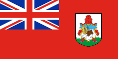 red British ensign with a coat of arms
