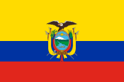 yellow-blue-red stripes with a thick yellow stripe with a coat of arms