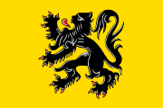 yellow with a black lion